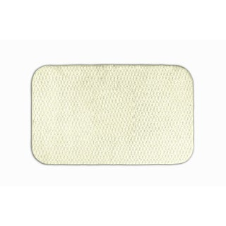 Enliven Textured Ivory 24x40 Bath Rug