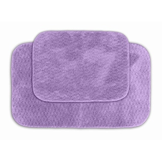 Enliven Textured Amethyst Bath Rugs (Set of 2)