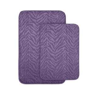 Wild Style Purple 2-piece Bath Rug Set