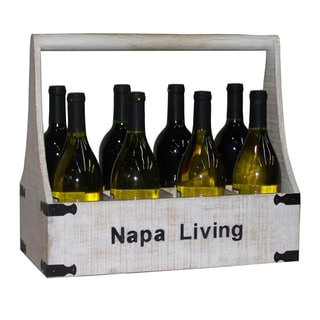 Countryside Distressed Wood 8-Bottle Wine Holder