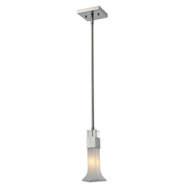 Lotus 1-light Chrome Mini Pendant