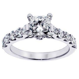 14k White Gold 1 3/4ct TDW Diamond Engagement Ring (F-G, SI1-SI2)