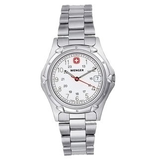 Wenger Men's 'Standard Issue' White Dial Watch