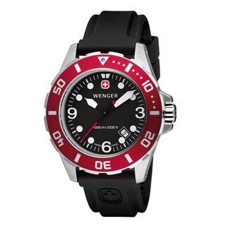 Wenger Men's 'AquaGraph' Red Bezel Diver's Watch