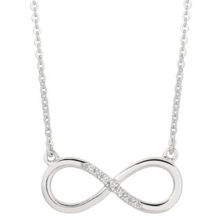 Sterling Silver Diamond Accent Infinity Necklace