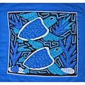 'Turtles In Deep Water' Mola Textile Art (Panama)