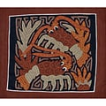 'Lobster Pair' Mola Textile Art (Panama)