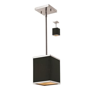 'Rego' Brushed Nickel 1-light Mini Pendant