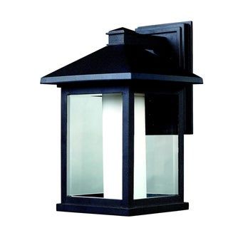 'Mesa' Traditional Black Outdoor Wall Light