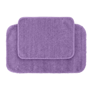 Plush Deluxe Wisteria Bath Rugs (Set of 2)