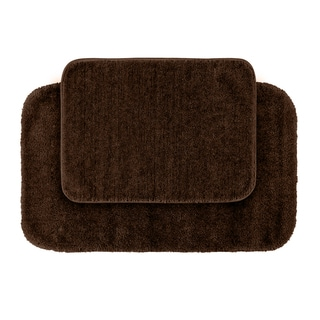 Plush Deluxe Espresso 2-piece Bath Rug Set