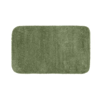 Somette Plush Deluxe Deep Fern 30 x 50 Bath Rug