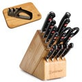 Wusthof Classic Cutting Board with Sharpener 14-piece Knife Block Set