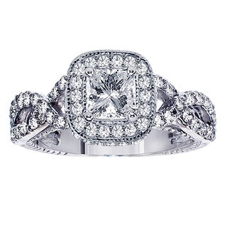 14k White Gold 2 1/4ct TDW Diamond Braided Engagement Ring (F-G, SI1-SI2)