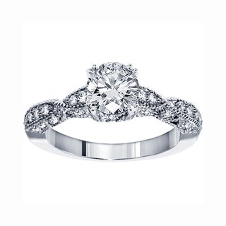 14k White Gold 1 3/4 CT TDW Brilliant Cut Diamond Engagement Ring (F-G, SI1-SI2)