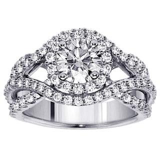 14k White Gold 2 5/8ct TDW Braided Diamond Bridal Set