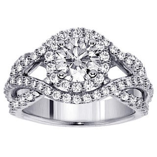 14k White Gold 2 5/8ct TDW Braided Diamond Bridal Set
