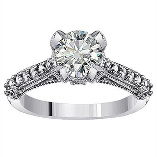 14k White Gold 1 1/2ct TDW Clarity Enhanced Diamond Engagement Ring (F-G, SI1-SI2)