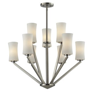Z-Lite Elite 9-light Brushed Nickle Pendant