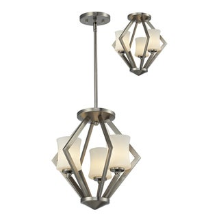 Z-Lite Elite 3-light Brushed Nickle Pendant