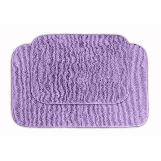 Cheltenham Purple 2-piece Bath Rug Set
