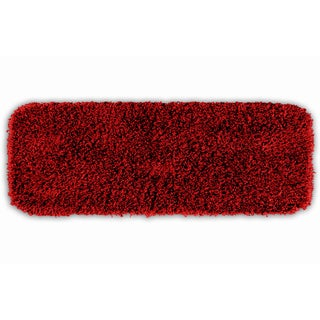 Quincy Super Shaggy Red Hot Washable Bath Runner