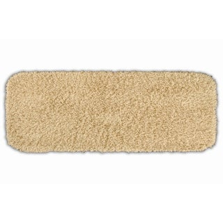 Quincy Super Shaggy Sand Washable Bath Runner