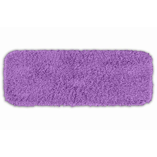 Somette Quincy Super Shaggy Purple 22 x 60 Bath Runner