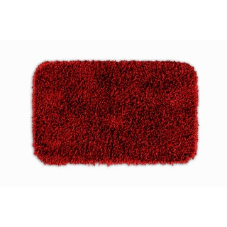 Quincy Super Shaggy Red Hot Washable 22x40 Bath Rug
