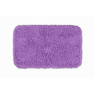 Quincy Super Shaggy Purple Washable 24x40 Bath Rug