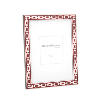 Red Poppy and Silver Link Picture Frame (5 x 7)