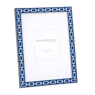 Navy and Silver Link Picture Frame (5 x 7)