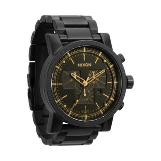 Nixon Men's 'Magnacon SS A154' Matte Black/ Gold Watch