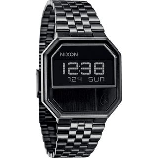 Nixon Men's 'Re-Run A158' All Black Watch