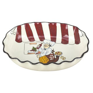 Lorren Home Trend Fun Chef 17.5-inch Oval Bowl