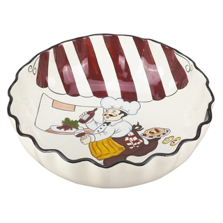 Lorren Home Trend Fun Chef 15-inch Round Bowl