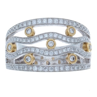 14k Two-tone Gold 3/5ct TDW Diamond Band (I-J, I1-I2)