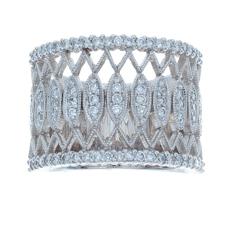 Victoria Kay 14k White Gold 5/8ct TDW Diamond Vintage Band (I-J, I1-I2)