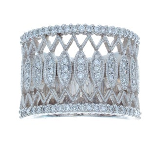 14k White Gold 5/8ct TDW Diamond Vintage Band (I-J, I1-I2)