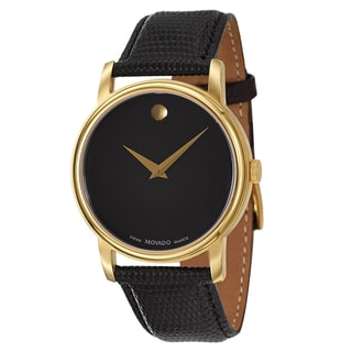 Movado Men's 'Collection' Yellow Gold-Plated Swiss Quartz Watch