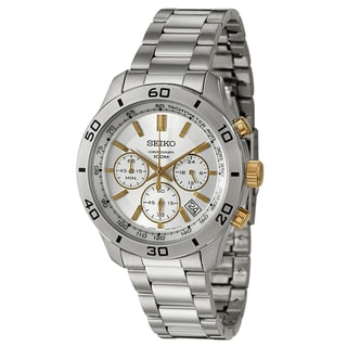 Seiko Men's 'Chronograph' Goldtone Marker Chronograph Watch