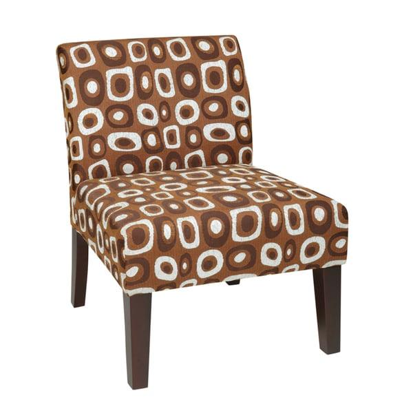 Twilight Aqua Laguna Patterned Upholstered Chair