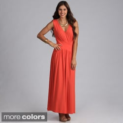 Biacci Women's Sleeveless V-neck Maxi Dress