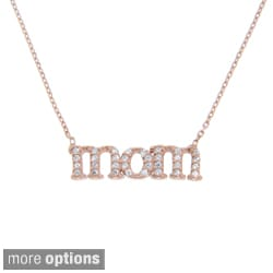 Eternally Haute Sterling Silver Cubic Zirconia Mom Necklace