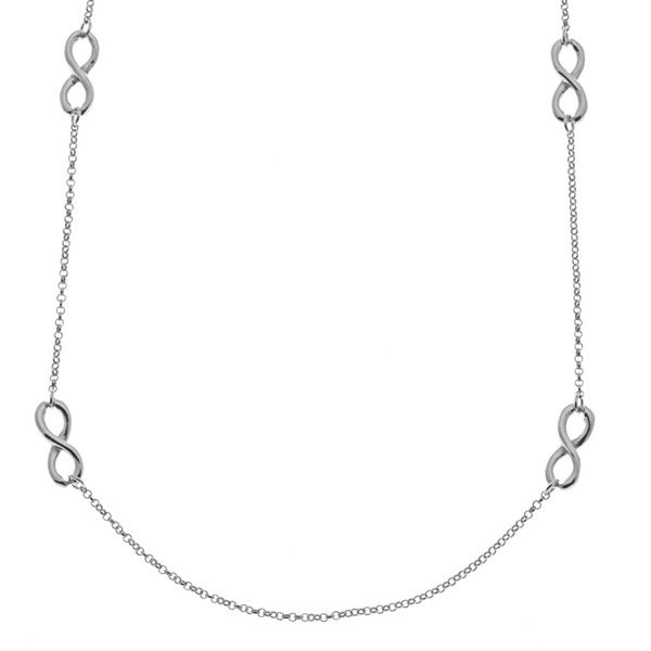 La Preciosa Sterling Silver Multiple Infinity Necklace