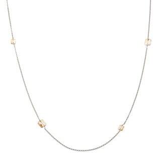 La Preciosa Sterling Silver 36-inch Necklace Made with SWAROVSKI Elements