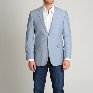 Adolfo Men's Blue Chambray Sport Coat