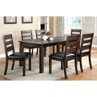 Jolson Transitional Natural Wood Grain 7-piece Dining Set