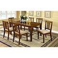 Nalaya Dark Oak Transitional 7-piece Dining Set