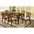 Furniture of America Nalaya Dark Oak Transitional 7-piece Dining Set